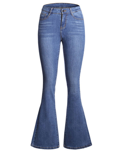 High Waisted Bell Bottom Jeans-8