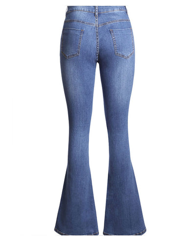 High Waisted Bell Bottom Jeans-12