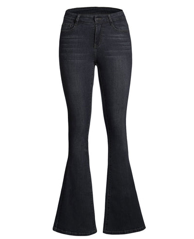 High Waisted Bell Bottom Jeans-10