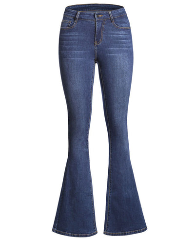High Waisted Bell Bottom Jeans-9