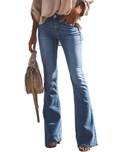 High Waisted Bell Bottom Jeans-2
