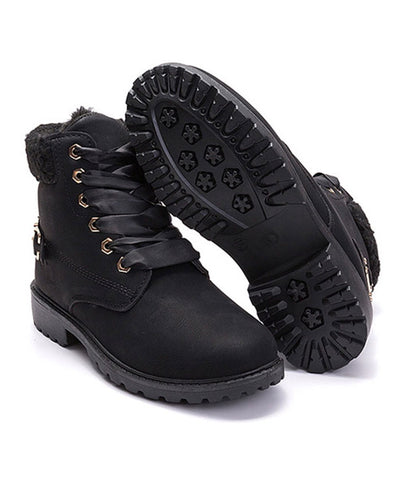 Lace Up Ankle Boots Combat Boots