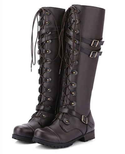 Lace Up Combat Boots for Women-2