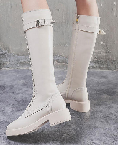 Lace Up Ridding Boots for Women-5