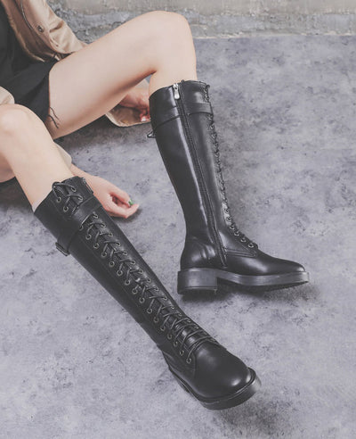 Lace Up Ridding Boots for Women-6