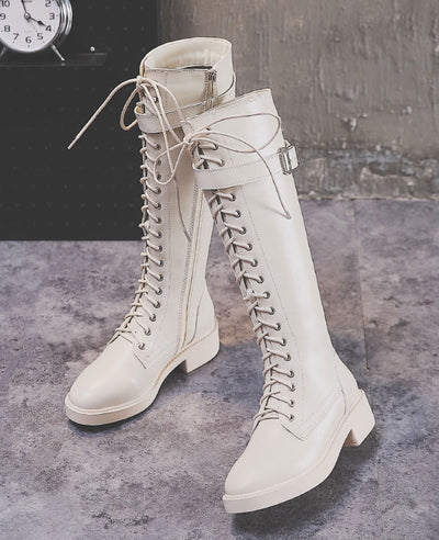 Lace Up Ridding Boots for Women-1