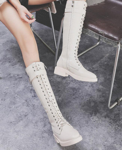 Lace Up Ridding Boots for Women-3