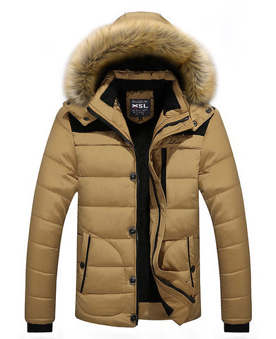 Men Warm Down Padded Jacket-1