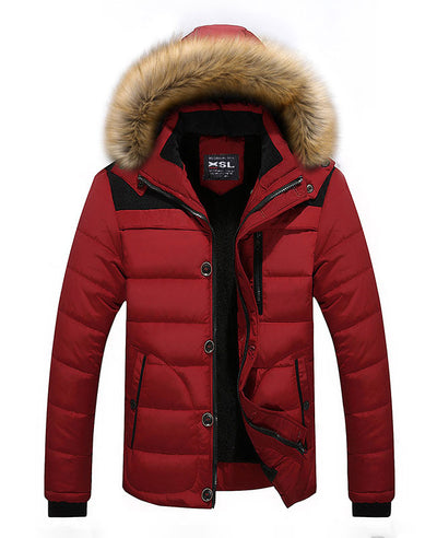 Men Warm Down Padded Jacket-3