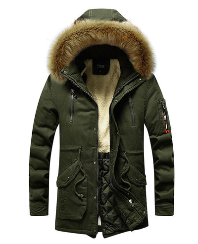 Men's Winter Coat with Fur Hood