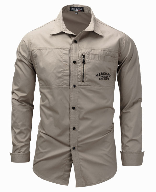 Military Men Collared Shirt