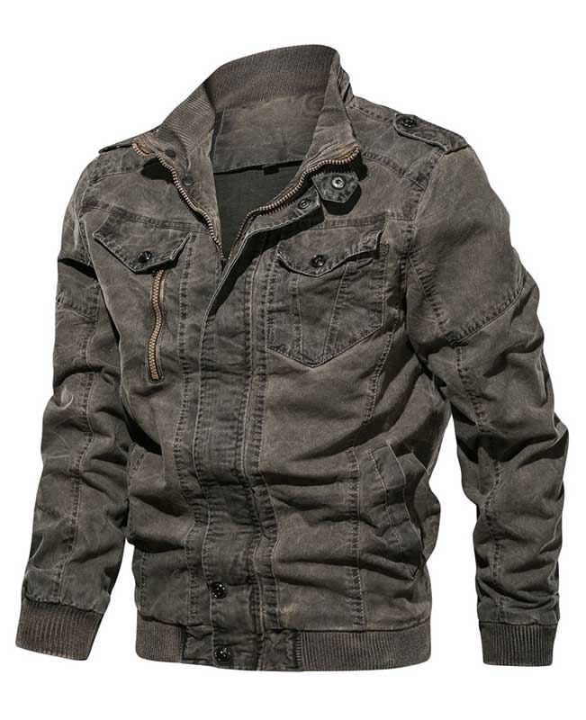 Military Tactical Jean Jacket Men
