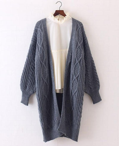 Open Stitch Poncho Knitting Sweater Cardigans