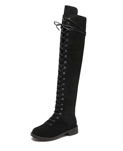 Over the Knee Lace Up Boots-9