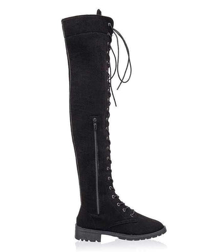 Over the Knee Lace Up Boots-10