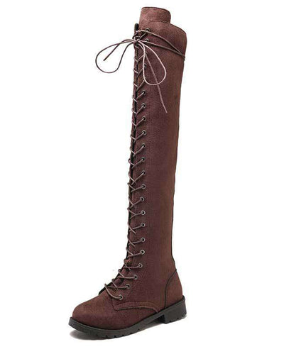 Over the Knee Lace Up Boots-6