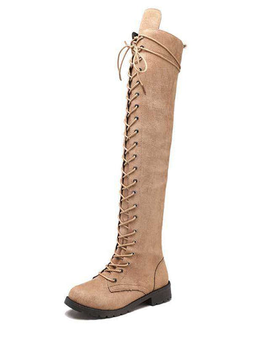 Over the Knee Lace Up Boots-8