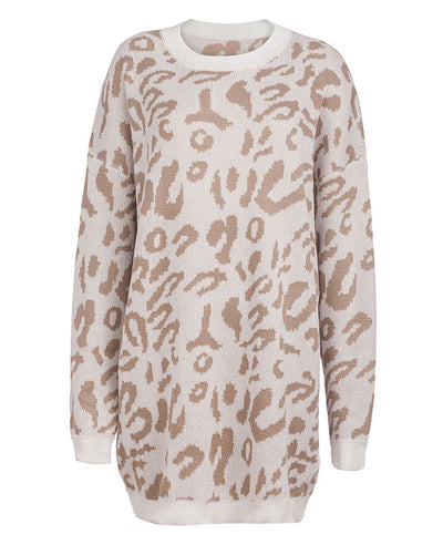 Oversized Leopard Print Sweater-6