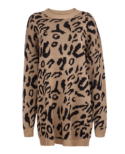 Oversized Leopard Print Sweater-7