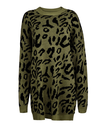 Oversized Leopard Print Sweater-8