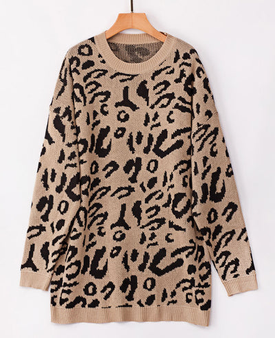 Oversized Leopard Print Sweater-9