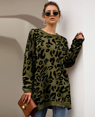 Oversized Leopard Print Sweater-4