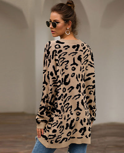 Oversized Leopard Print Sweater-11