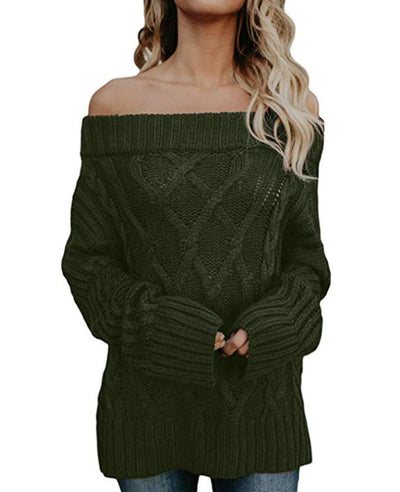 Oversized Off the Shoulder Sweater-4