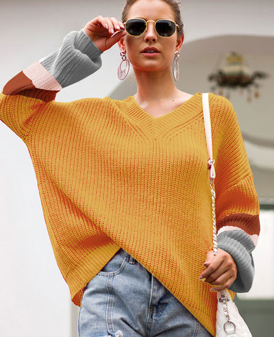 Oversized V Neck Sweater
