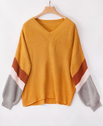 Oversized V Neck Sweater-6