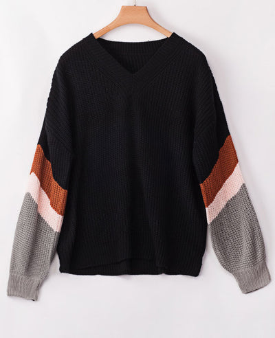 Oversized V Neck Sweater-7
