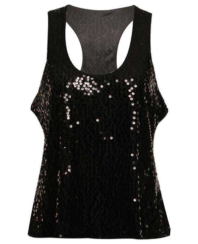 Sexy Shining Sequins Tank Tops-11