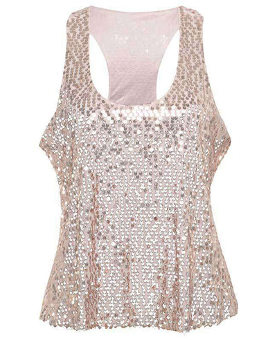 Sexy Shining Sequins Tank Tops-9