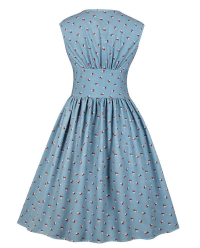 Sleeveless Floral Vintage Cocktail Dresses
