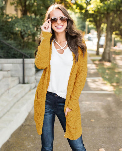 Soft Chunky Sweater Cardigan-7