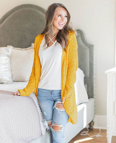 Soft Chunky Sweater Cardigan-3