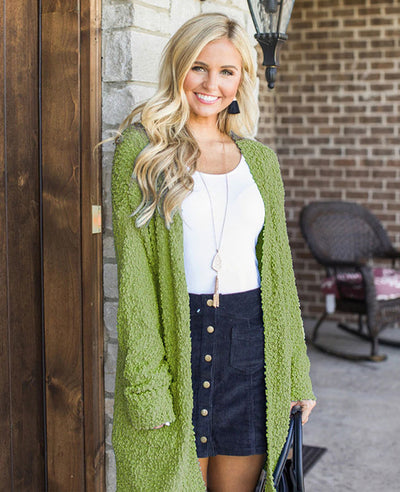 Soft Chunky Sweater Cardigan-6