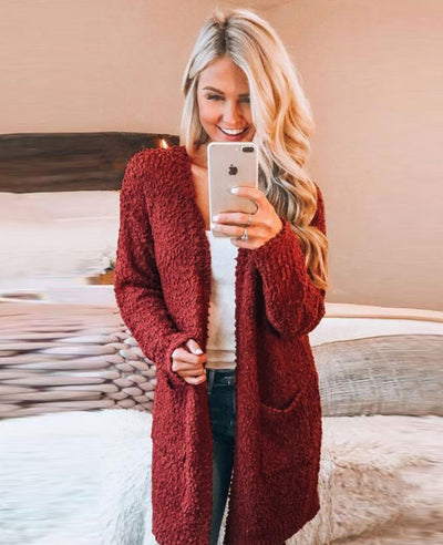 Soft Chunky Sweater Cardigan-8
