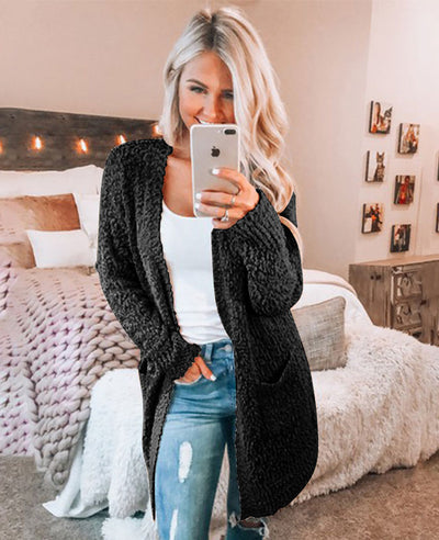 Soft Chunky Sweater Cardigan-1