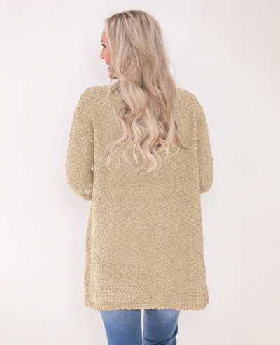 Soft Chunky Sweater Cardigan-10