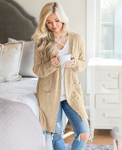 Soft Chunky Sweater Cardigan-2