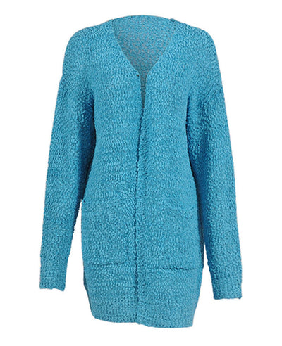 Soft Chunky Sweater Cardigan-11