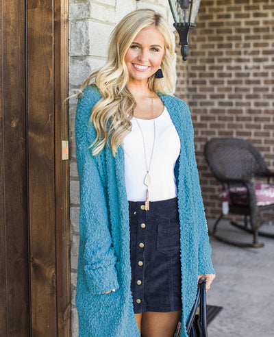 Soft Chunky Sweater Cardigan-4