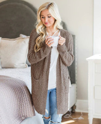 Soft Chunky Sweater Cardigan-5