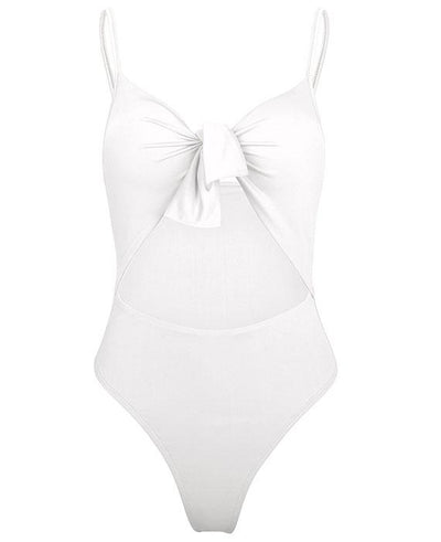 Bow Tie One Piece High Waist Swimsuits