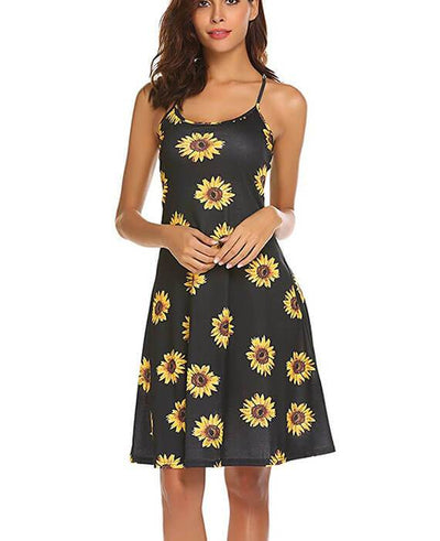 Spaghetti Straps Mini Floral Summer Dress