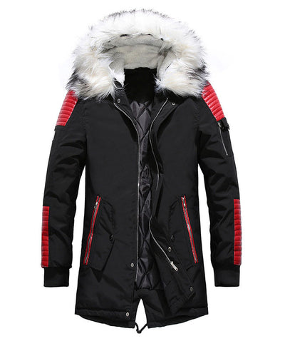 Warm Padded Mens Down Parka-2