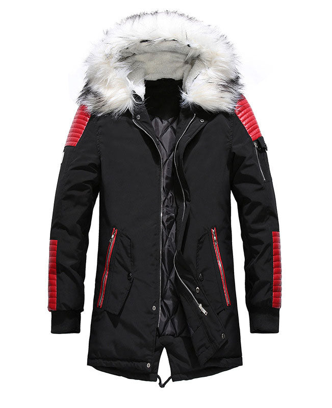 Warm Padded Mens Down Parka