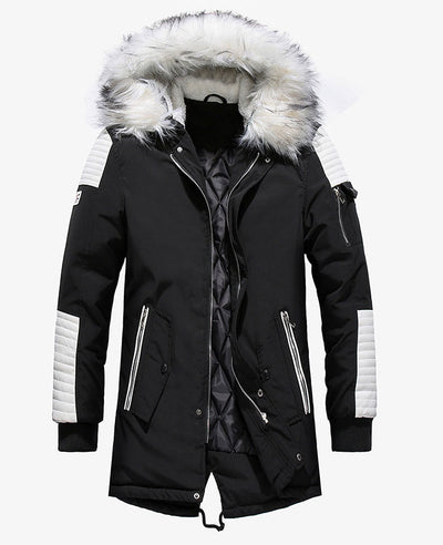 Warm Padded Mens Down Parka-1
