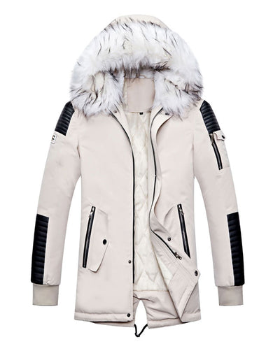 Warm Padded Mens Down Parka-4
